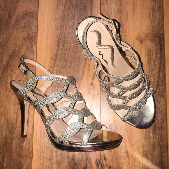 Nina Shoes   Dsw Nina Gold Heels   Poshmark